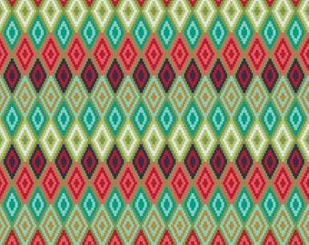 Southwest Fabric, Geometric Diamond Fabric, Riley Blake La Vie Boheme C4746, Aztec Southwestern Fabric, Diamond Quilt Fabric, Cotton