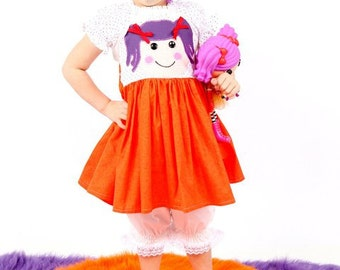 Boutique custom handmade pageant girls Lalaloopsy Doll inspired dress, Peanut big top, Crumbs Sugar Cookie, Mittens fluff and stuff,