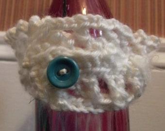 White Crochet Cuff Bracelet