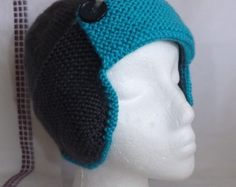Aviator Hat - Knitted Aviator Hat - Aviator Hat for Baby - Knit Earflap Hat