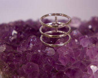 Triple Band Sterling Silver Ring