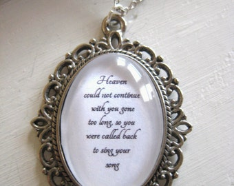 Sing Your Song Necklace, infant loss, child loss, child loss gift, miscarriage, angel baby, stillborn, baby loss gift, child loss jewelry