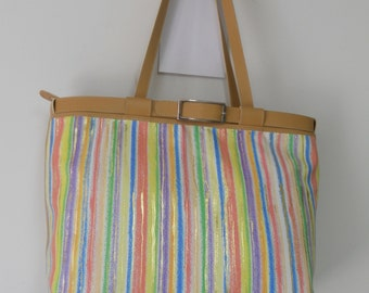 large shopping bag multicolor