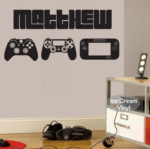 Gamer Decal | Wall Decal | Gamer Gifts | Name Wall Decal | Personalized Decal Gift