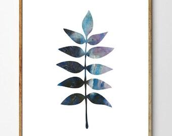 Fern no.2 - Fern Art, Botanical Print, Fern Print, Floral Art, Leaf Print, Watercolor Flowers, Nature Art, Botanical Art, Minimalist Art