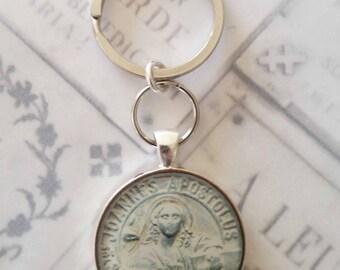 Key Chain - Saint John Apostle Pendant - 32mm