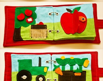 Quiet Book PATTERN - On The Farm - Downloadable PDF