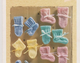 Baby Booties Pattern Baby Gifts to Make Christmas Gift Easy Knitting Pattern PDF Knit Pattern Instant Download Baby Knit Pattern New Baby