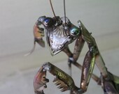 Scrap Metal Praying Mantis - Stainless Steel Sculpture - Unique Artwork - Original