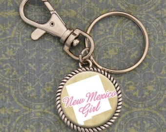 New Mexico Girl Stuck On You Keychain - SOY56068NM