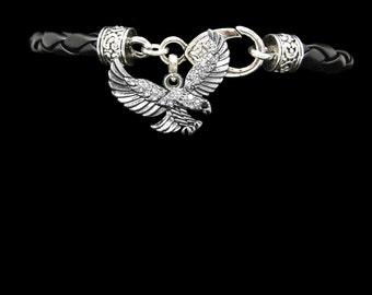 Eagle Leather Bracelet