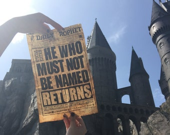 He Who Must Not Be Named Harry Potter Replica Daily Prophet Poster