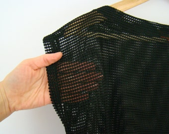 Black See through Fishing Net Shirt