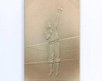 Baseball Postcard Embossed Tinted Airbrush Undivided Back ca. 1906 Unused