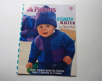 Patons 927 - Giggle Knits - Babies  Ages 3 Months to 2 Years