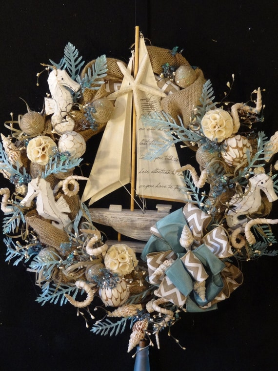 Do It Yourself Home Design: Sold...Reserved For DCS...Sailboat Wreath By