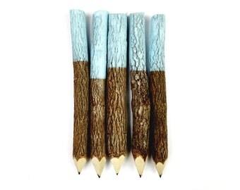 Twig Pencils in Ice Blue (x5)