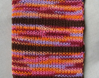 Colorful Boho Tablet Case - handmade knitted