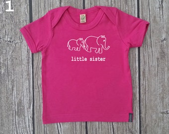 "Baby T-Shirt (organic) ""little sister"""