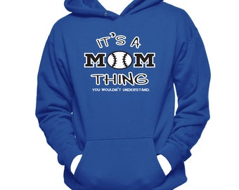 Baseball Mom Hoodie Sweatshirt - Baseball Gifts - Baseball Mom Present - Women Hoodies - Baseball Sweatshirt - Gifts For Mom