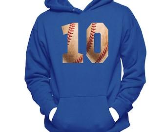 Baseball Numbers Hoodie Sweatshirt - Baseball Hoodie - Baseball Gifts - Baseball Sweatshirt - Custom Baseball Shirt - Baseball Lover Gifts