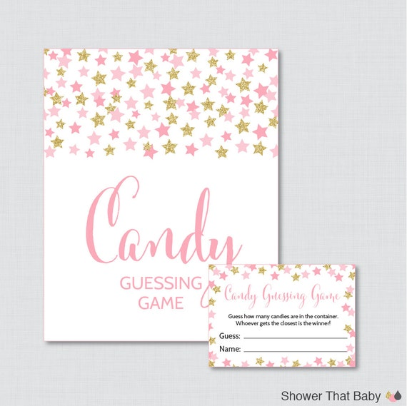star baby shower candy guessing game printable guess how many