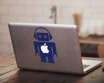 Retro Toy Robot Macbook Decal Sticker