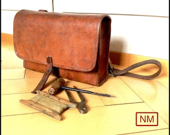 Vintage Swiss Army Bag for Demolition Expert Soldiers - Pouch with Tools of the Swiss Military for Blasting Soldiers Bag w
