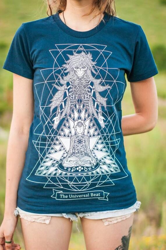 Goddess T-Shirt—Organic USA Made, Cosmic T-Shirt, Trippy T-Shirt, DMT Shirt, Psychedelic T-Shirt, Meditation T-Shirt, Goddess, Womens