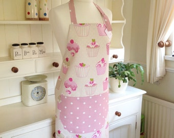 Cup Cakes Ladies' Apron, Full Apron, Adjustable Apron