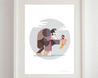 Donkey Kong Art Print - A3