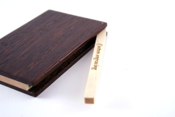 Custom Engraved Wooden Business Card Holder