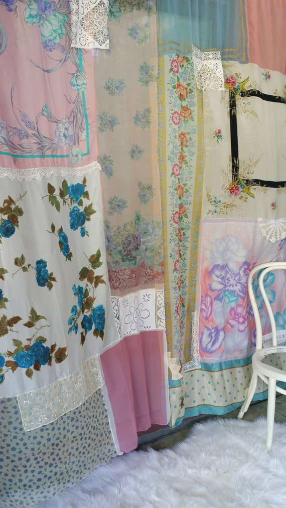 Shabby Chic Boho Curtains Drapes panels Hippie Hippy room