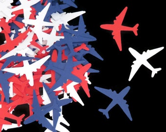 patriotic airplane confetti, military wedding, 100CT, pilot retirement party, pilots, airline, Navy, airline, flight attendant July 4th