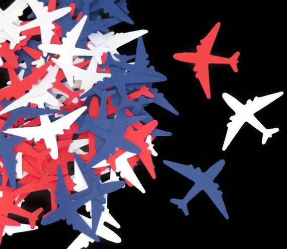 Patriotic decorations airplane confetti military by partyparts for Airplane decoration