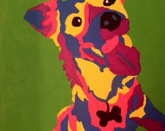 Custom Dog Portrait- Colby