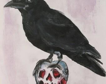 A5 Raven/ Poison Apple snow white inspired print