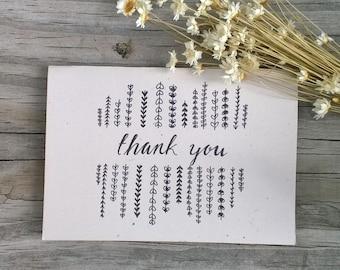 Thank You Card Set, Wedding Thank You Cards, Thank You Note, Rustic Thank You Note
