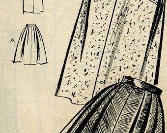 Misse's Vintage 50's Skirtl Sewing Pattern - Mail Order 2201 - Size 24  - Uncut