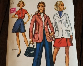 1970 Simplicity Sewing Pattern 8695 Size 14