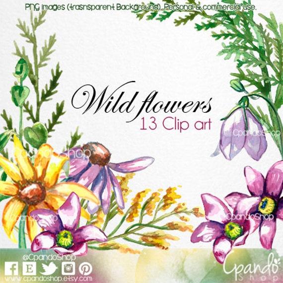 Wild Flower Clip Art Spring Floral ClipArt Images 13 Png