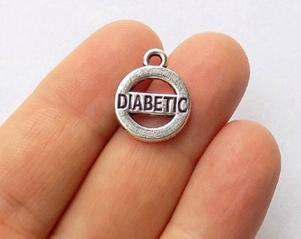 5 Diabetic Charms - Diabetes Charms - #S0158