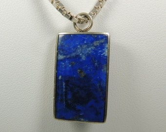 Lapis Sterling Silver Necklace Vintage