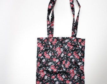 Tote bag | vintage floral print | handmade | shopper | carry-all bag