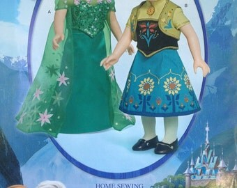 "Frozen Fever McCalls Doll Costume Disney Pattern 18"" Doll W0365"