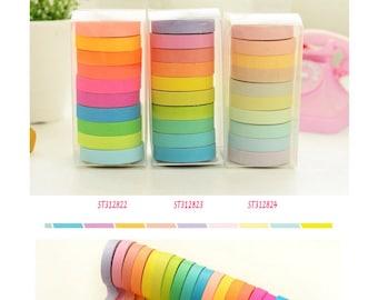 Colourful Washi Tape 5m 10pc