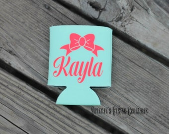 Bow and Name Cozie