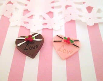 Valentine Heart Candy Cabochons #049
