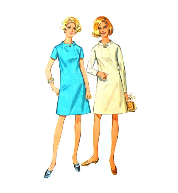 1960s Shift Dress Pattern Simplicity 7807 - photo#37