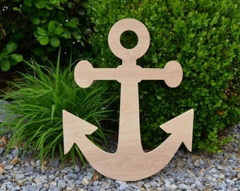 20 Inch Wooden Anchor // Anchor Decor // Nautical Decor // Anchors Away // Wooden Door Hanger